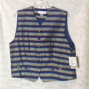 NWT Womens Don Caster Silk Vest
